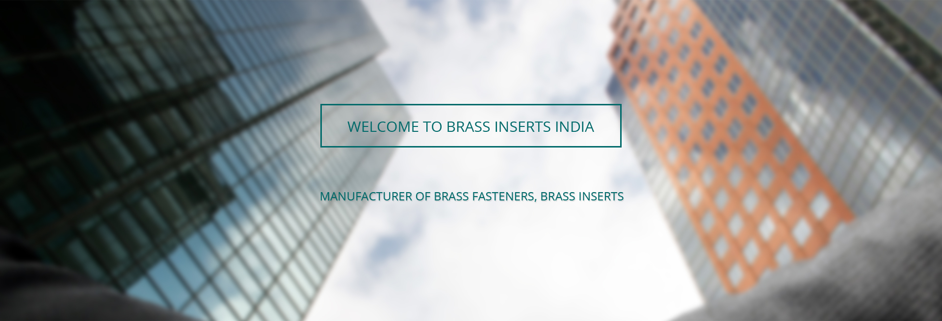 Brass Inserts India banner